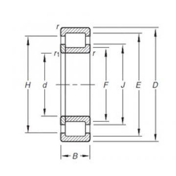 30 mm x 72 mm x 27 mm  Timken NUP2306E.TVP Rolamentos cilíndricos