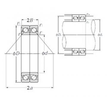 200 mm x 310 mm x 49,5 mm  NTN HTA040DB Rolamentos de esferas de contacto angular